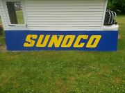 Viintage Sunoco Service Station Sign 16and039 X 3and039