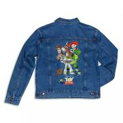 Disney Store Toy Story 25th Anniversary Denim Jacket For Adults New Size Xl