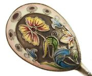 Antique Russian Silver Enameled Serving Spoon Faberge Shop