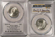 2019 W Church River No Return Np 25c Pcgs Ms66 Emily S.damstra Signed First Week
