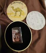 Vintage 1994 Sealed Camel Pack Design Etched Zippo 2 Sided L Xi New With Tin