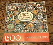 Springbok A Merry Old Christmas 1500 Piece Jigsaw Puzzle Tapestry Patterns Usa
