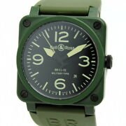Bell And Ross Aviation Br03-92mc-r Military Ceramic Automatic Khaki Box And Papers