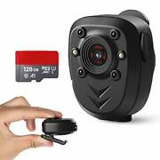 Body Camera Built-in 128gb Memory 1080p Police Video Recorder Wearable Portable