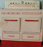 Rare 8 Button Vintage 15 Wolverine Toy Kitchen Tin Stove 1940's With Oven Doors