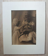Antique Sepia Platinum Print Photograph And039poor Pussyand039 By The Allen Sisters 1900