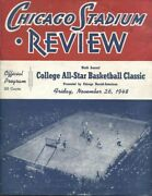 1948 College All-star Basketball Lakers Anderson Packers New York Rens Program