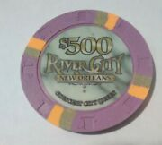 River City Casino New Orleans 500.00 Cancelled Chip Great For Any Collection
