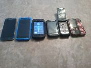 Lot Of 6 Cell Phones Iphone 3gs Android And Basic Flip And Keyboard Phone Mixed