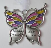Qqaa You Have Friends In High Places Butterfly Wishes Ornament Ganz