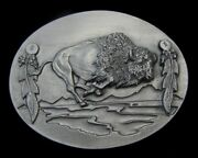 Charging Buffalo Belt Buckle Pewter New Buckles