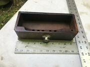 Antique White Treadle Sewing Machine Middle Center Drawer Parts Restore Front