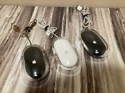 Lot Of 3 Apple Pro Mouse M5769 White/black And Clear Usb Wired Optical Mouse Imac.
