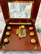 Mr Christmas Musical Bell Symphonium Disc Music Box-new- 8 Extra Discs-see Video