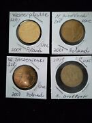 Nordic Gold, 2 Zloty, Polish Commemorative, 4 Different Unc Coins, Low Mintage.