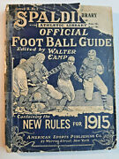 Spalding's 1915 Official Football Guide And Rules Ncaa College Football Spalding