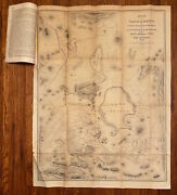 Martin Luther Smith / Map Of The Valley Of Mexico With Plan 1st Edition 1850
