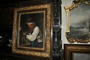Great Antique And039and039 Winemaker And039and039 Oil On Canvas By A Fox