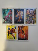 1992 Marvel Masterpieces Lost Ladies Insert Card Set, Lm1-lm5