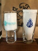 Tree House Brewing Willi Becher Cape Cod And Craftmaster Teal Beer Glasses Rare