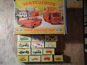 Job Lot Of Matchbox Carsboxed Vintage Fire Station Dated 60-80`s Mint-vgc