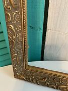 Antique Gesso On Wood Golden Picture Frame For 12x16 Fit