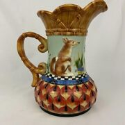 Herrick Collection Fox And Hare Pitcher Fitz And Floyd Classics