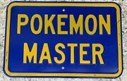 Pokemon Master Vintage 18 X 12 Blue Yellow 3lb Wall Sign Really Cool