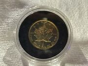 1982 5 1/10 Oz .9999 Canadian Gold Maple Leaf Coin