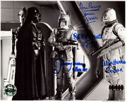 Prowse Hargreaves Bulloch Harris Signed 8x10 Photo Star Wars Opx Beckett Bas Loa
