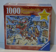 Santa's Flying Visit New Ravensburger Puzzle, Limited Christmas Ed., 1000 Pieces
