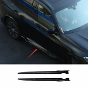 For Bmw X5 G05 2019-2021 Abs Bright Black Exterior Door Panel Trim Side Skirts