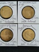 Nordic Gold, 2 Zloty Polish Commermative Coins, 4 Different Unc Coins, Low Mint.