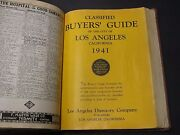 1941 Los Angeles City Telephone Directory / Geneaology Vintage Hardcover