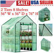 3 Tiers 8 Shelves Portable Greenhouse Mini Walk In Outdoor Planter Window Anchor