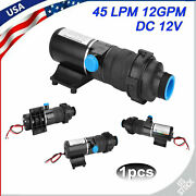 12v Mount Macerator Waste Water Pump 45lpm/12gmp Boat Rv Marine Quick Release Us