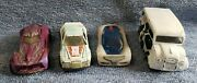 Lot Of 4 Hotwheels Cars, Dairy Delivery, Thunder Burner, Nitrium, Urban Agent