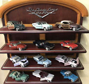 Franklin/danbury Mint 143 Pewter Classic Race 12 Models With Display Shelf Rare