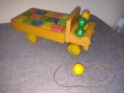 Vintage Wood Truck With Wooden Blocks