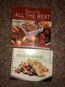 Lot Of 2 Pampered Chef Cookbooks All The Best And Grill It Quick Easy Recipes