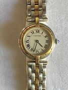Panthere Vendome 166920 18 Carat Gold And Stainless Ladies Quartz Watch