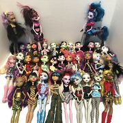 Huge Mattel Monster High Doll Lot With Clothes And Accessory Lot 44 Dolls Rare