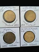Nordic Gold, 2 Zlote, Polish Commemorative 4 Different Unc Coins, Low Mintage