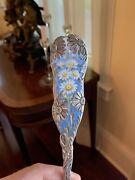 Very Rare Art Nouveau Sterling Silver Enamel Punch Ladle Wood And Hughes Mint