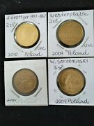 Nordic Gold, 2 Zlote, Polish Commemorative 4 Different Unc Coins, Low Mintage.