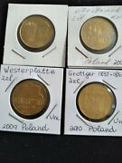 Nordic Gold, 2 Zlote, Polish Commemorative 4 Different Unc Coins. Low Mintage.