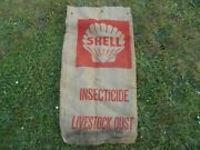 Vintage Shell Advertising Gasoline Burlap Insecticide Potato Feed Sack Bag Rare