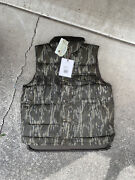 Nwt Filson Bottom Land Down Vest Waxed Mens Green Gray Size Large 275