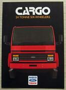 Iveco Ford Cargo 24 Tonne Six Wheelers Commercial Sales Brochure 1986 C5/86