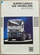Iveco Ford Super Cargo Six Wheelers Commercial Sales Brochure 1993 Br20/93